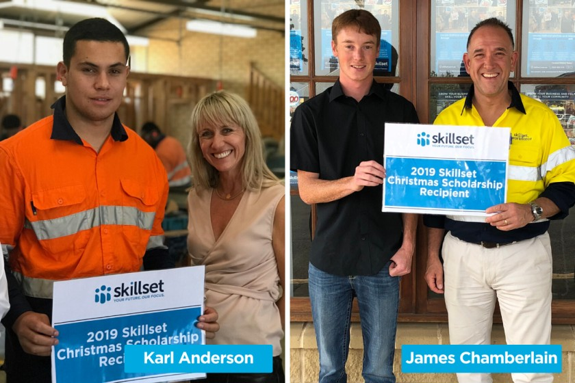 2019 Skillset Christmas Scholarship Recipients