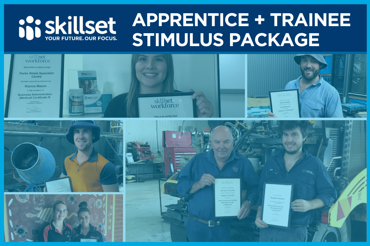 Skillset welcomes the Federal Government's Apprentice and Trainee Stimulus Package